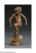 Bronze:American, BONNIE MACLEARY (American 1890-1971). Ouch. Bronze. 6.5in..Signed on base. Please Note: This lot does not includ...