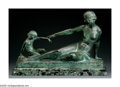 MARCEL BOURAINE (French 1886-1948) Femme et Enfant Bronze 21.75in.x 10in. x 16in. Signed on base, Stamped :Susse Fre