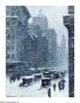GUY CARLETON WIGGINS (American 1883-1962) Snow Storm 16in.x 12in. Oil on canvas Signed lower left  Brian Roughton: