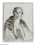 American:Ashcan, ROBERT HENRI (American 1865-1929). Portrait of a Woman.Pencil on paper. 10in. x 8in.. Signed lower left. ...