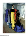 American:Modern, MOSES SOYER (American 1899-1974). The Fitting. Oil oncanvas. 24in.x 18in.. Signed lower right. Exhibited: Garelick'sGa...
