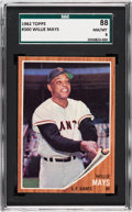 Baseball Cards:Singles (1960-1969), 1962 Topps Willie Mays #300 SGC 88 NM/MT 8....