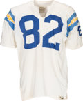Football Collectibles:Uniforms, 1967-71 Steve DeLong Game Worn San Diego Chargers Jersey....