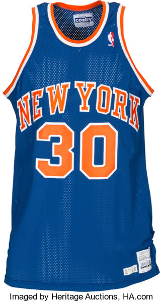 detailed look a170e c3371 1986-87 Bernard King Game Worn New York Knicks Jersey ...