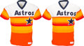 Baseball Collectibles:Uniforms, 1980's Bill Doran & Dickie Thon Game Worn Houston Astros Jerseys Lot of 2. ...