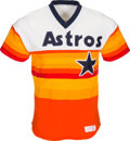 Baseball Collectibles:Uniforms, 1984-85 Kevin Bass Game Worn Houston Astros Jersey. ...