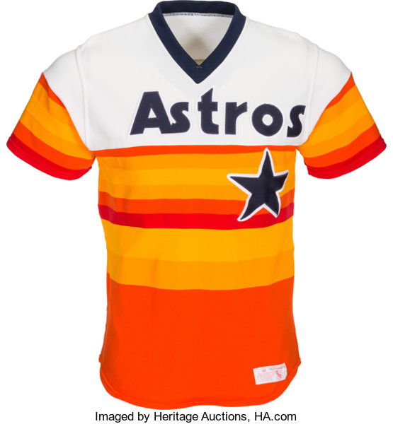 the latest 8043a eb9ae 1984-85 Kevin Bass Game Worn Houston Astros Jersey ...