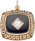 Baseball Collectibles:Others, 1981 Los Angeles Dodgers World Series Championship Pendant....