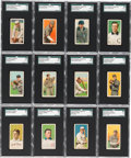 Baseball Cards:Lots, 1909-11 T206 White Borders Collection (64) With HoFers & ScarceBrands. ...
