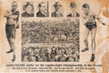 Boxing Collectibles:Memorabilia, 1906 Joe Gans vs. Battling Nelson Post-Fight Poster....
