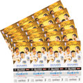 Basketball Collectibles:Others, 2016 NBA Finals Game 7 Ticket Sheets (5 Sheets) - 20 Full Tickets -Cleveland Cavaliers First Championship!...