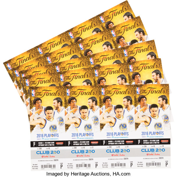 2016 nba finals game 7 ticket sheets 5 sheets 20 full tickets