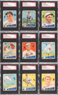 Autographs:Sports Cards, Signed 1934 Goudey Baseball Card Collection SGC Authentic (12) WithLefty Grove. ...