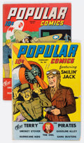 Golden Age (1938-1955):Miscellaneous, Popular Comics #83 and 84 Group (Dell, 1943) Condition: Average VG+.... (Total: 2 Original Art)