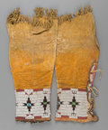 American Indian Art:Beadwork and Quillwork, A Pair of Cheyenne Woman's Beaded Hide Leggings... (Total: 2 Items)