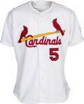 Baseball Collectibles:Uniforms, 2002 Albert Pujols Game Worn Signed St. Louis Cardinals Jersey. ...