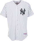 Baseball Collectibles:Uniforms, 2013 Alex Rodriguez Game Worn New York Yankees Jersey with Yankees-Steiner Letter & Mariano Rivera Patch. ...