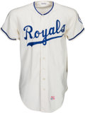 Baseball Collectibles:Uniforms, 1971 Kansas City Royals Game Worn Jersey. ...
