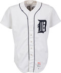Baseball Collectibles:Uniforms, 1982 Lance Parrish Game Worn Detroit Tigers Jersey. ...