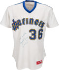 Baseball Collectibles:Uniforms, 1983 Gaylord Perry Game Worn Seattle Mariners Jersey. ...