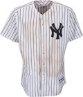Baseball Collectibles:Uniforms, 2012 Mark Teixeira Game Worn New York Yankees Jersey from Home Run vs. Red Sox....
