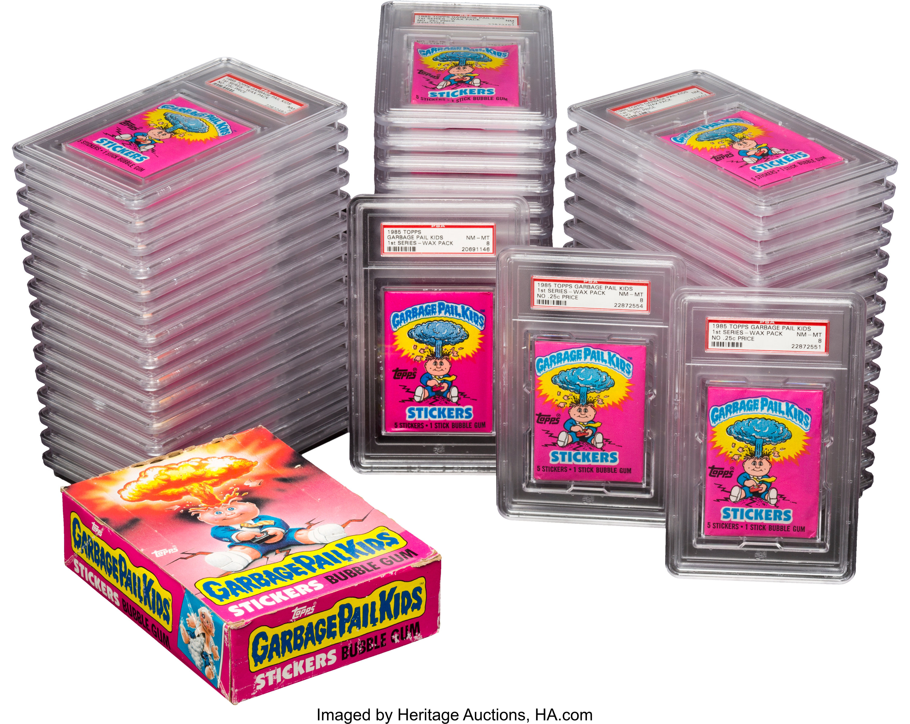 1985 Topps Garbage Pail Kids Series 1 Wax Box And 48 Psa Graded Lot 81485 Heritage Auctions