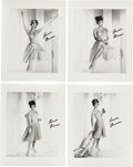 Music Memorabilia:Photos, A Connie Francis Group of Signed Black and White Photographs, Circa1960.... (Total: 4 Items)