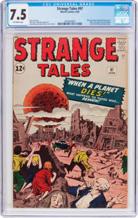 Strange Tales #97 (Marvel, 1962) CGC VF- 7.5 Off-white pages