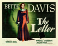 """Movie Posters:Film Noir, The Letter (Warner Brothers, 1940). Linen Finish Half Sheet (22"""" X28"""").. ..."""