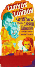 "Movie Posters:Drama, Lloyds of London (20th Century Fox, 1936). Silk Screen SmallStandee (20"" X 38"").. ..."