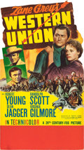 "Movie Posters:Western, Western Union (20th Century Fox, 1941). Small Standee (20"" X 36"")....."