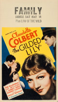 "Movie Posters:Comedy, The Gilded Lily (Paramount, 1935). Midget Window Card (8"" X 14"")....."