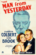 "Movie Posters:War, The Man from Yesterday (Paramount, 1932). One Sheet (27"" X 41"")....."