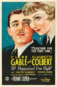 "It Happened One Night (Columbia, 1934). One Sheet (27"" X 41"")"