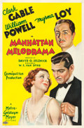 "Movie Posters:Crime, Manhattan Melodrama (MGM, 1934). One Sheet (27"" X 41"") Style C....."