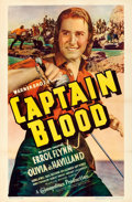 "Movie Posters:Adventure, Captain Blood (Warner Brothers, 1935). One Sheet (27"" X 41"").. ..."