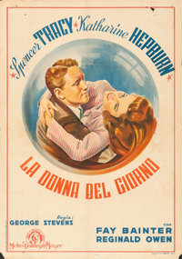 "Woman of the Year (MGM, 1946). First Post-War Italian Foglio (27.5"" X 39.5"")"