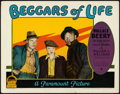 "Movie Posters:Drama, Beggars of Life (Paramount, 1928). Lobby Card (11"" X 14"").. ..."