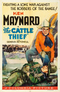 "Movie Posters:Western, The Cattle Thief (Columbia, 1936). One Sheet (27"" X 41"").. ..."
