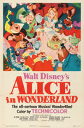 "Movie Posters:Animation, Alice in Wonderland (RKO, 1951). One Sheet (27"" X 41"").. ..."