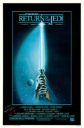 """Movie Posters:Science Fiction, Return of the Jedi (20th Century Fox, 1983). Autographed One Sheet(27"""" X 41"""") Style A, Tim Reamer Artwork.. ..."""