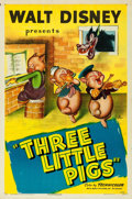 "Movie Posters:Animation, The Three Little Pigs (RKO, R-1947). One Sheet (27"" X 41"").. ..."