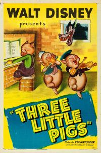 "The Three Little Pigs (RKO, R-1947). One Sheet (27"" X 41"")"