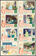 "Movie Posters:Animation, Cinderella (RKO, 1950). Lobby Card Set of 8 (11"" X 14"").. ...(Total: 8 Items)"