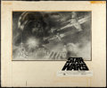 "Movie Posters:Science Fiction, Star Wars (20th Century Fox, 1977). Original Tom Jung Pencil HalfSheet Concept Artwork (30"" X 24"") and Half Sheet (22"" X 28...(Total: 2 Items)"
