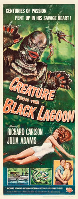 "Creature from the Black Lagoon (Universal International, 1954). Insert (14"" X 36"") Reynold Brown Artwork"