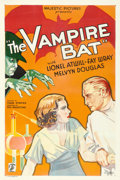 "Movie Posters:Horror, The Vampire Bat (Majestic, 1933). One Sheet (27"" X 41"").. ..."