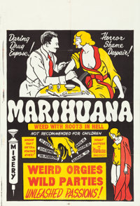 "Marihuana (Roadshow Attractions, 1936). One Sheet (28"" X 41"")"