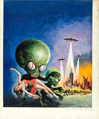 "Invasion of the Saucer-Men (American International, 1957). Original Albert Kallis Gouache Poster Artwork (20"" X 24&..."