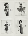 Music Memorabilia:Photos, A Connie Francis Group of Black and White Signed Photographs, Circa1960.... (Total: 4 Items)